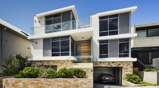 Clean-lined and contemporary, with a base of natural architecture, building, elevation, facade, home, house, residential area, Giles & Tribe, Contemporary