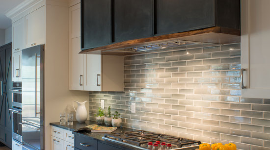 ​​​​​​​One way to optimise a feature in your cabinetry, countertop, cuisine classique, floor, flooring, home, interior design, kitchen, room, under cabinet lighting, wood flooring, gray, black