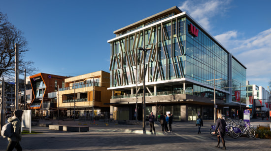 The upper levels of the west facade of architecture, office, commercial building, facade, Westpac Building, Jasmax