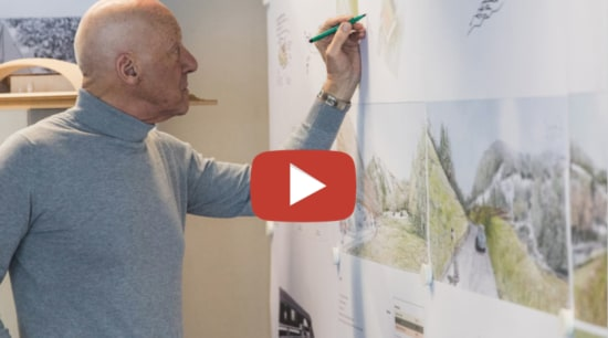 Norman Foster video button - design | room design, room, gray