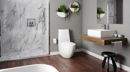 Plumbing World2 - bathroom | bathroom accessory | bathroom, bathroom accessory, bathroom cabinet, floor, home, interior design, plumbing fixture, room, sink, tap, wall, gray