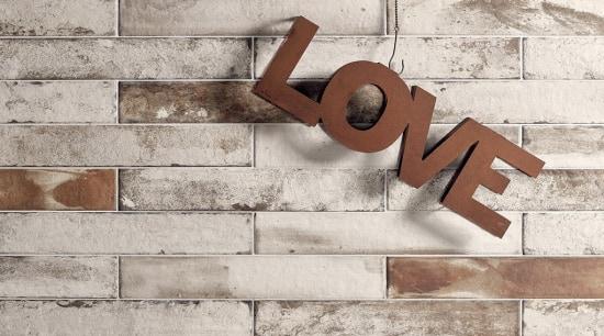 The texture and varied shades of Bricklane create brick, floor, wall, gray