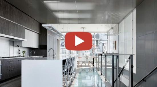 SFO loft video button - gray | white gray, white