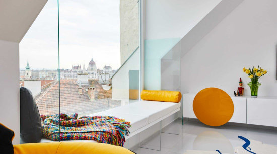 The building lies in the historical centre of architecture, home, house, interior design, living room, room, yellow, gray, white