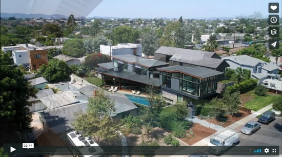 Venice House video – Finne Architects bird's eye view, city, condominium, estate, home, mansion, mixed use, neighbourhood, property, real estate, residential area, suburb, gray