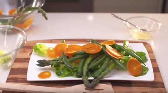 Quick and easy summertime salad - À la À la carte food, cuisine, dish, food, garnish, ingredient, leaf vegetable, plant, produce, spinach salad, vegetable, vegetarian food, white