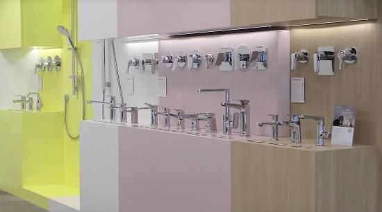 Mt Wellington showroom | Plumbing World - architecture architecture, design, display case, furniture, interior design, material property, room, gray