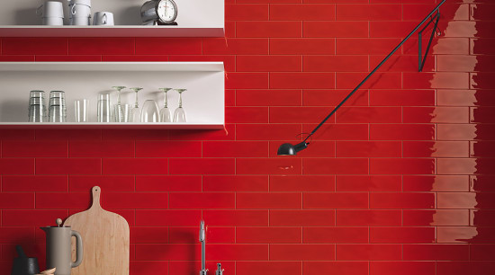 MC Tiles- Slash 05 - angle | floor angle, floor, flooring, interior design, red, shelf, tile, wall, red