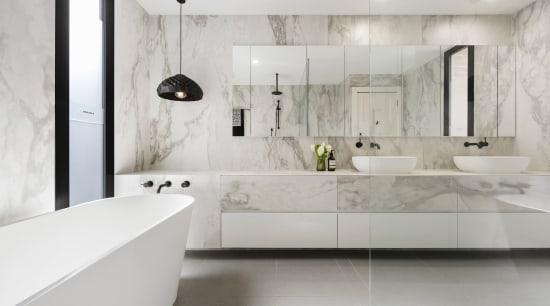 LSA Architects architecture, bathroom, floor, flooring, interior design, interior designer, product design, room, sink, tap, tile, wall, gray