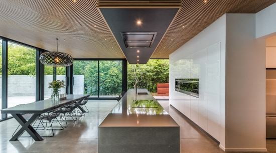 On this kitchen project, the island holds drawer architecture, ceiling, estate, house, interior design, real estate, gray