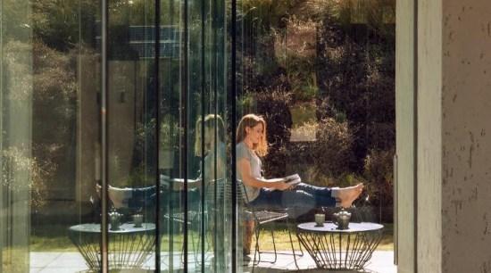 Glass windows apartment, architecture, door, glass, home, house, interior design, reflection, window, brown