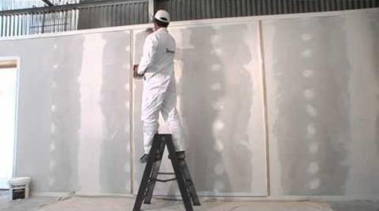 Applying Resene Broadwall Surface Prep & Seal - window, gray, black