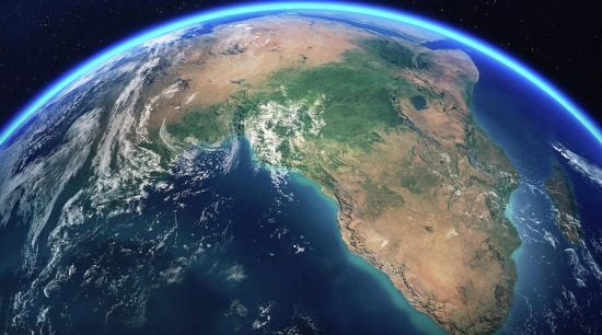 Earth From Space Africa View – Johan Swanepoel astronomical object, atmosphere, earth, outer space, planet, space, universe, world, blue