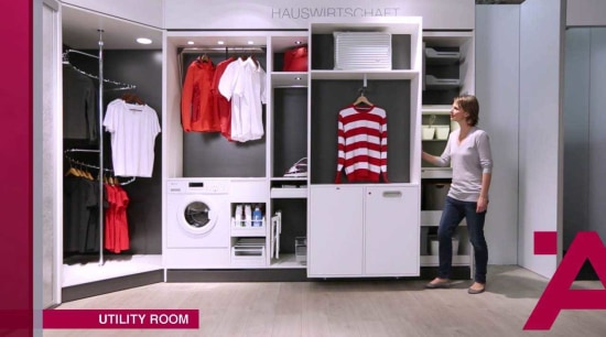 Hafele Storage Video boutique, closet, furniture, product, room, wardrobe, gray