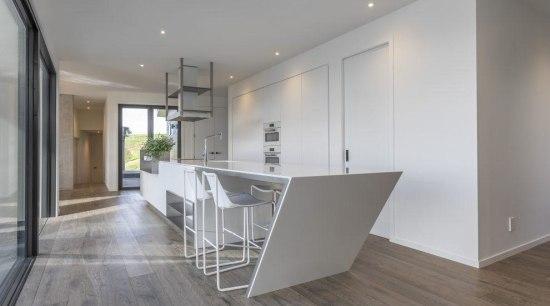 Contemporary Kitchen & Bar by Celia Visser architecture, floor, flooring, hardwood, house, interior design, laminate flooring, property, real estate, wood flooring, gray
