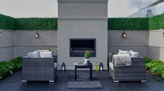 Why use a landscape designer? building, coffee table, floor, furniture, home, house, interior design, living room, property, room, table, wall, wicker, gray