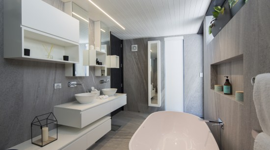 Well connected in Queenstown architecture, bathroom, interior design, real estate, room, gray