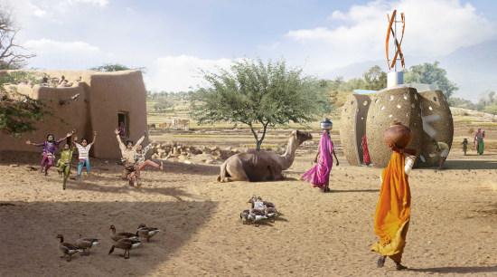 SPARK launches its The Big Arse Toilet in landscape, recreation, sand, village, white, brown, orange
