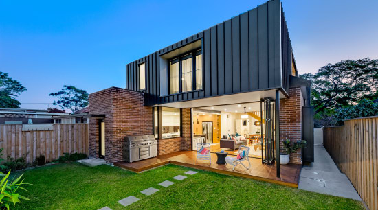 Winner – EcoSphereDesign – 2018 TIDA Australia Designer architecture, backyard, cottage, elevation, estate, facade, home, house, property, real estate, residential area, siding, yard, teal