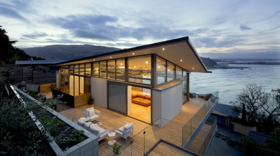 Borrmeister Architects – Winner – 2019 TIDA Homes architecture, building, cloud, facade, home, house, property, real estate, roof, sea, sky, vacation, gray, black