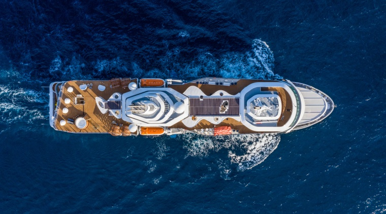The Celebrity Flora is the first expedition yacht blue