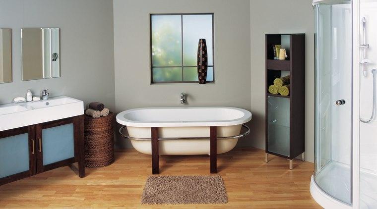 The view of a bathroom bathroom, bathroom accessory, bathroom cabinet, floor, flooring, plumbing fixture, product, room, sink, gray