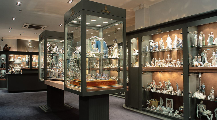 View of all of the retailer's ornaments boutique, display case, display window, glass, interior design, retail, tourist attraction, black, gray