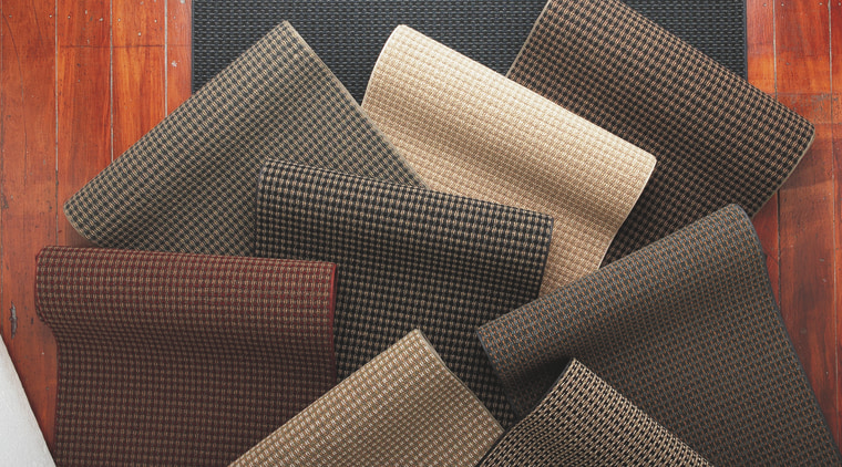 View of the range of carpet flooring, material, textile, black