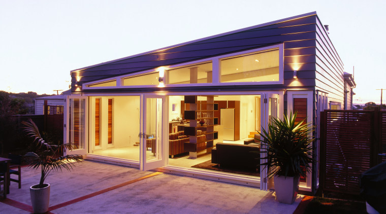 exterior of house with Contact column lights from architecture, facade, home, house, lighting, real estate, residential area, window, white, black
