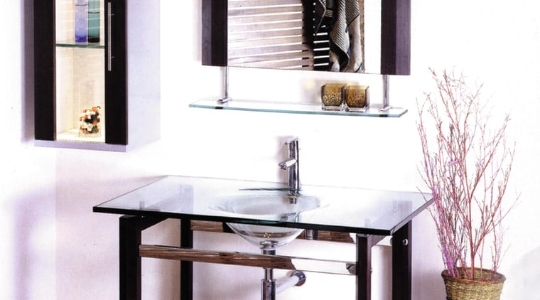 The view of a basin and vanity unit furniture, interior design, product design, shelf, shelving, table, white