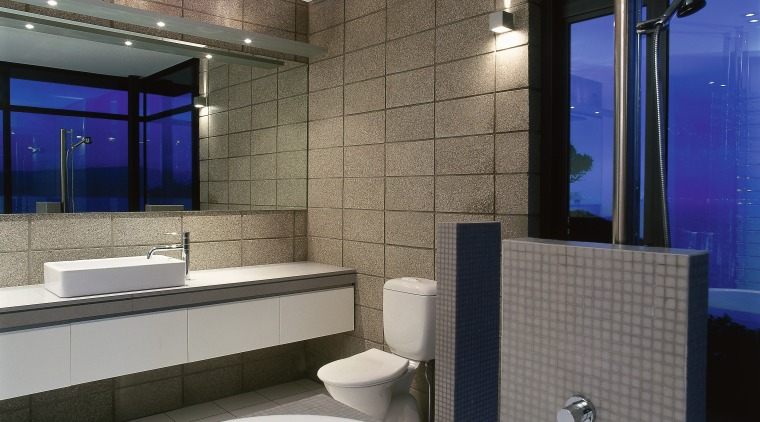 The view of a urban bathroom architecture, bathroom, ceiling, interior design, property, room, wall, gray