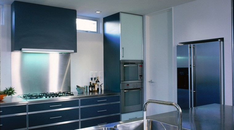 Viewing the cabinets, appliances & benchtops architecture, ceiling, countertop, daylighting, glass, interior design, kitchen, lighting, real estate, gray