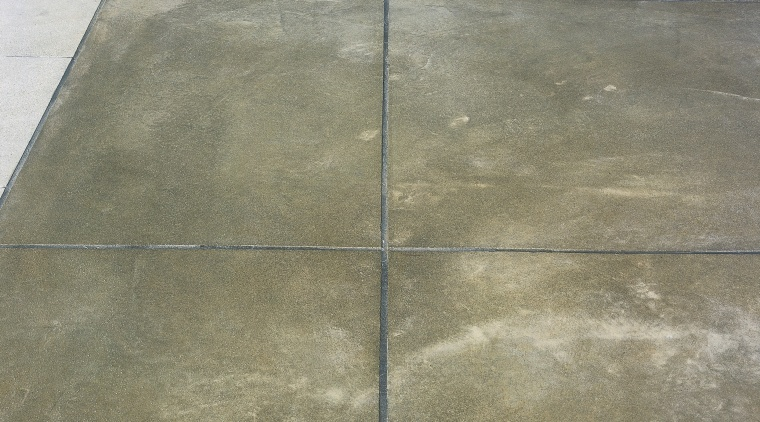Coloured concrete has been laid and custom cut concrete, floor, flooring, line, material, road surface, tile, gray
