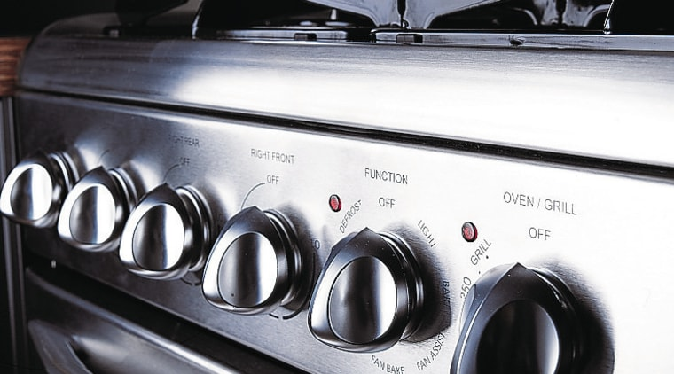 Freestanding gas oven and cooktop. electronics, gas stove, home appliance, kitchen appliance, major appliance, black, white