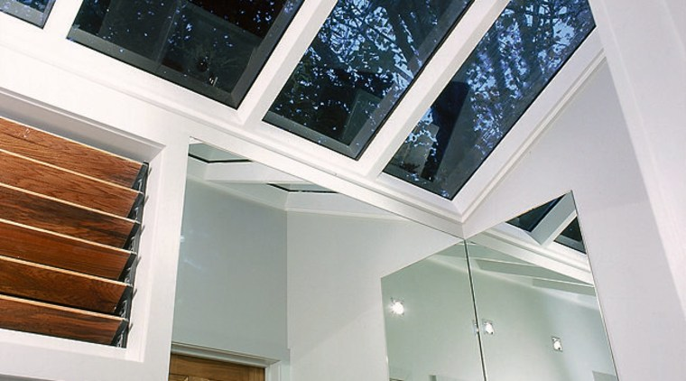 The detail of the skylights of a bathroom architecture, ceiling, daylighting, estate, glass, home, house, roof, window, gray, white