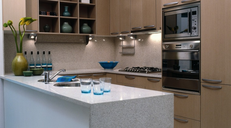 A simple but effective kitchen cabinetry, countertop, cuisine classique, home appliance, interior design, kitchen, room, gray