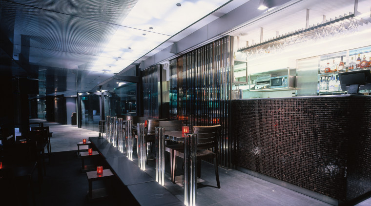 View of the main bar area glass, public transport, black, gray