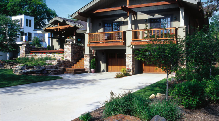 Exterior view of the entrance of the home, cottage, estate, home, house, landscaping, outdoor structure, plant, real estate, residential area, black