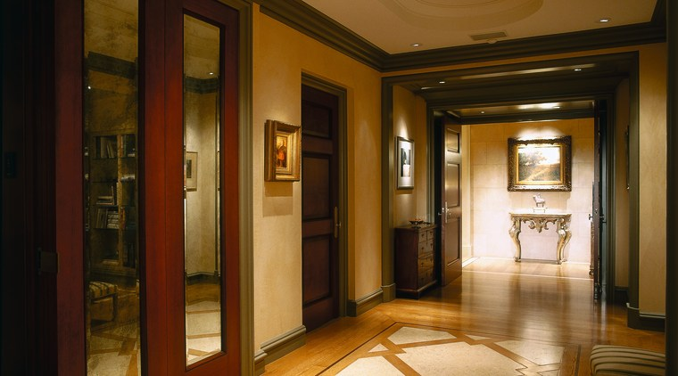 View of this hallway ceiling, flooring, interior design, lobby, tourist attraction, brown, black