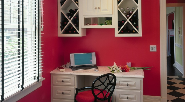 Bold color scheme. This is a small information cabinetry, ceiling, door, floor, furniture, home, interior design, living room, real estate, room, wall, window, gray