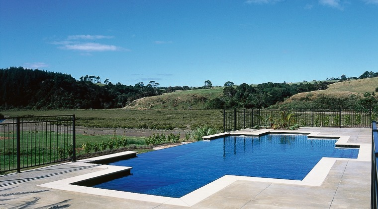 Overall view of the pool & it's surroundings cloud, estate, leisure, property, real estate, reflection, reservoir, sky, swimming pool, water, water resources, gray