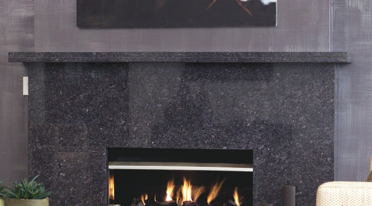 View of the fireplace fireplace, hearth, heat, interior design, wood burning stove, gray, black