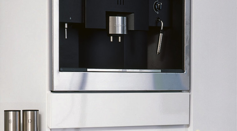 view of  stainless steel oven coffeemaker, espresso machine, home appliance, kitchen appliance, product, product design, small appliance, white
