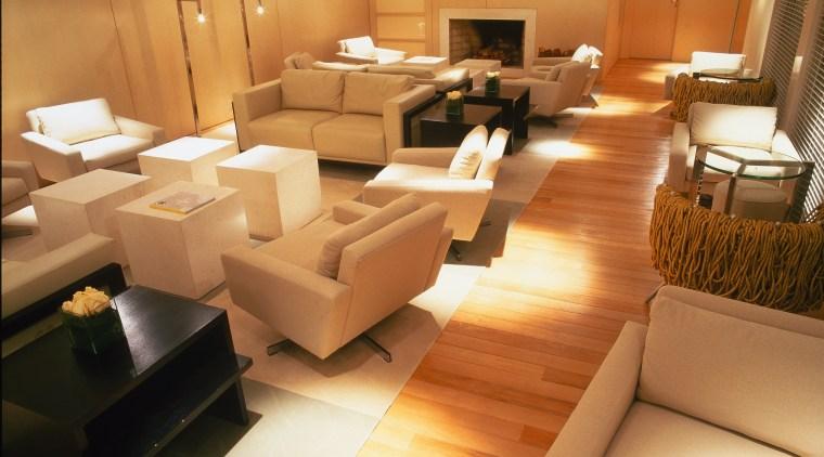 View of the lobby floor, flooring, furniture, interior design, living room, orange, brown