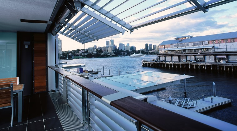 view of balcony and Alluminium louvres apartment, condominium, daylighting, penthouse apartment, property, real estate, roof, swimming pool, water, black