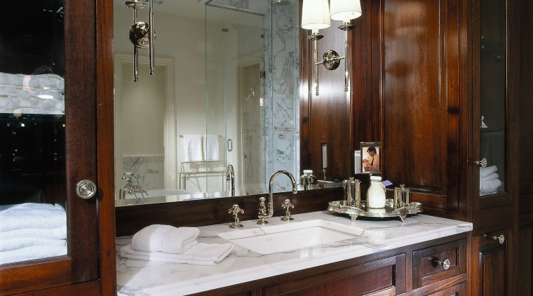 View of the vanity unit within the bathroom bathroom, cabinetry, countertop, cuisine classique, kitchen, room, black