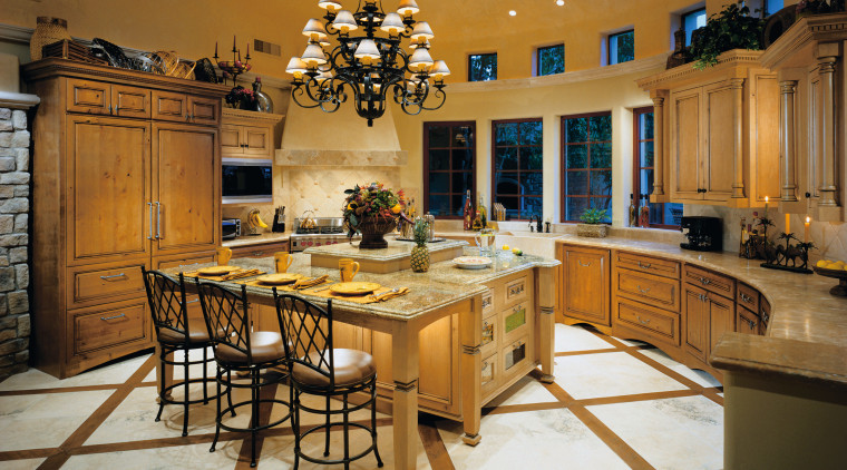 View of this kitchen countertop, cuisine classique, dining room, estate, interior design, kitchen, room, brown
