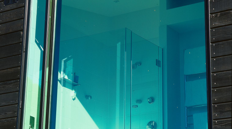 View of a window architecture, blue, daylighting, door, facade, glass, house, window, teal, black