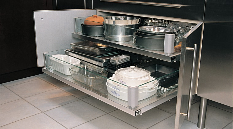 View of the storage unit countertop, furniture, gas stove, home appliance, kitchen, kitchen appliance, kitchen stove, table, gray, black