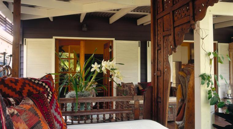 View of the veranda ceiling, estate, home, house, interior design, property, real estate, room, window, wood, black